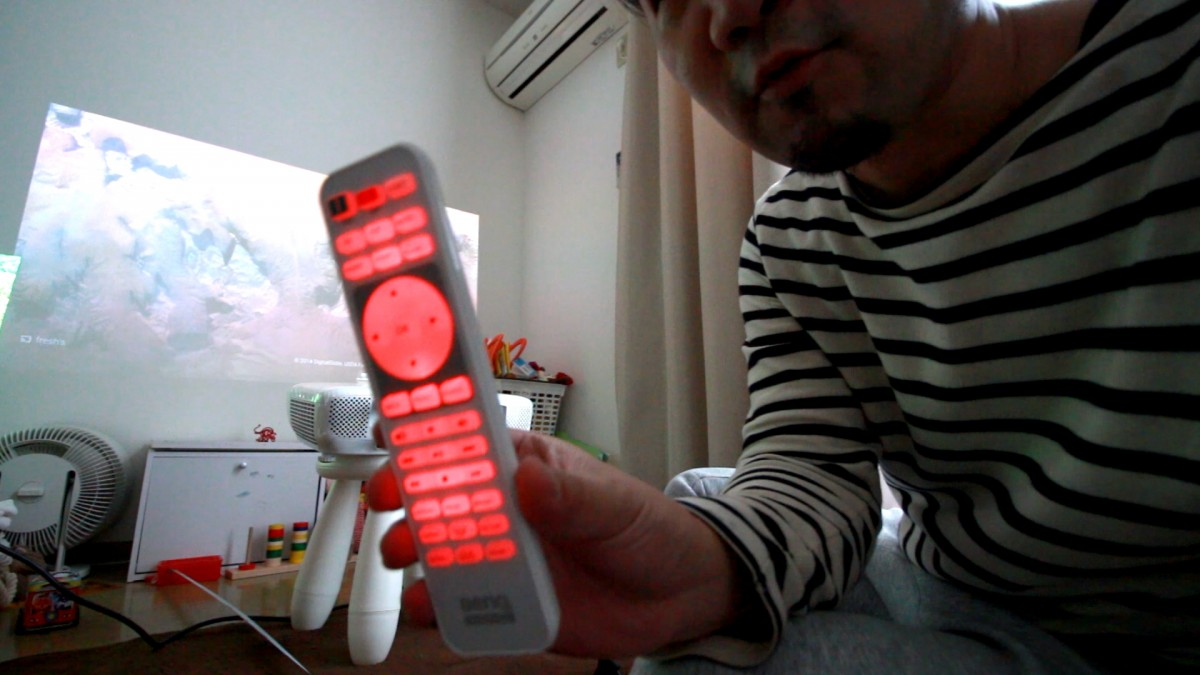 A man holding a remote control