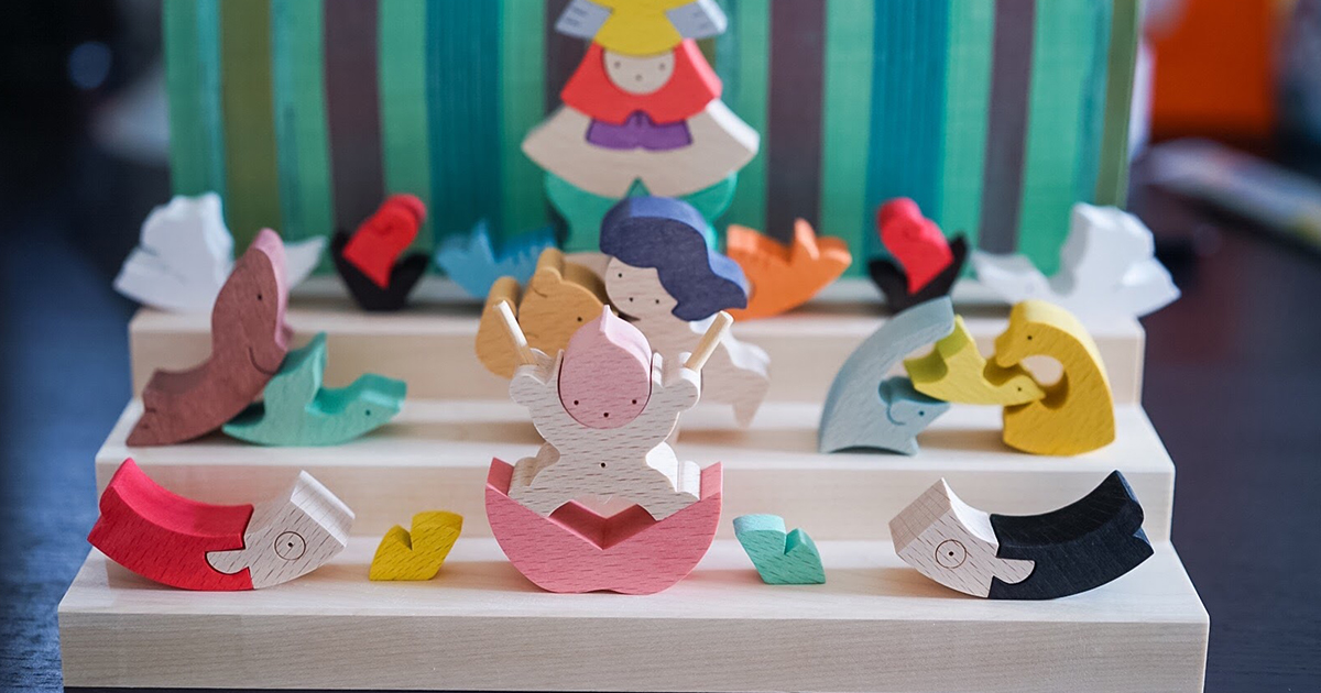 「小黒三郎」組み木の五月人形