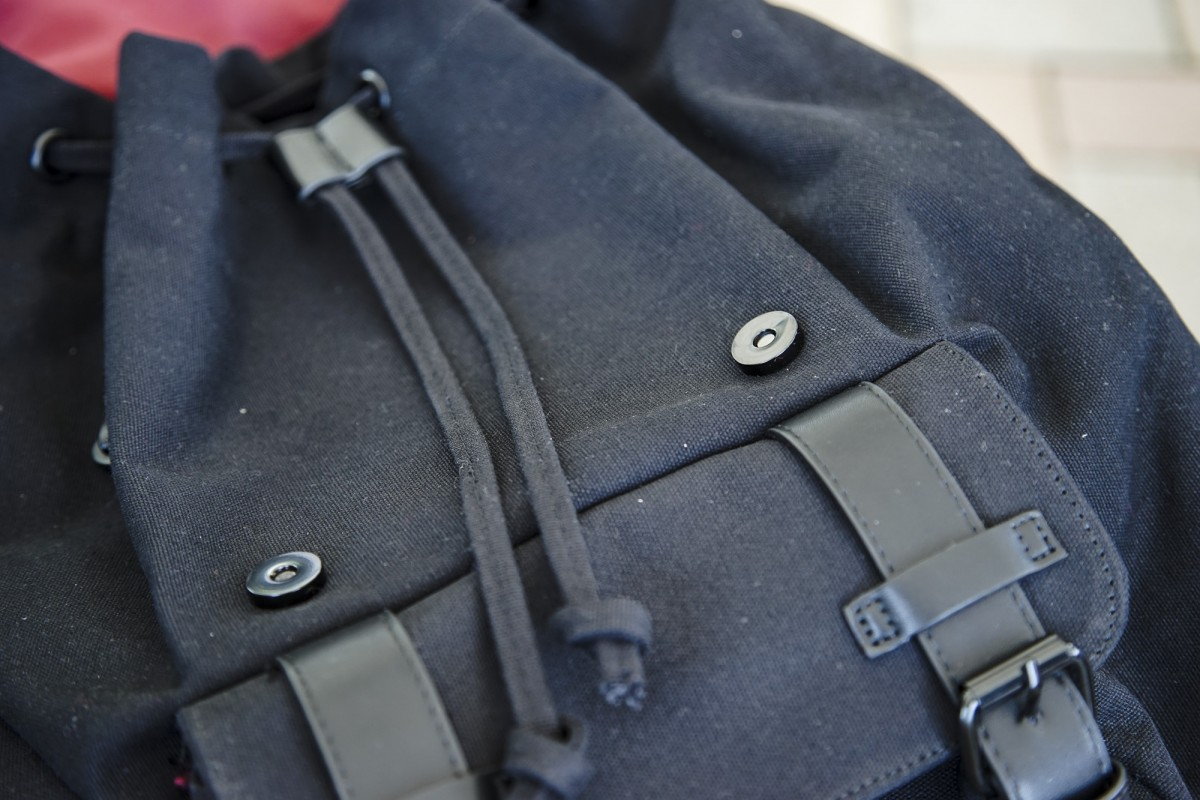 A close up of a piece of luggage