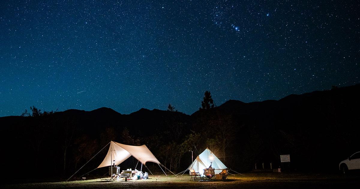 【徳島キャンプ】星空の下でキャンプ!冒険できるキャンプ場「岳人の森 キャンプ場」